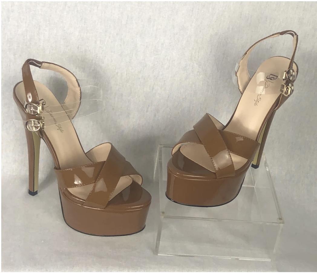 Platform Heel - Cinnamon/Milk Chocolate