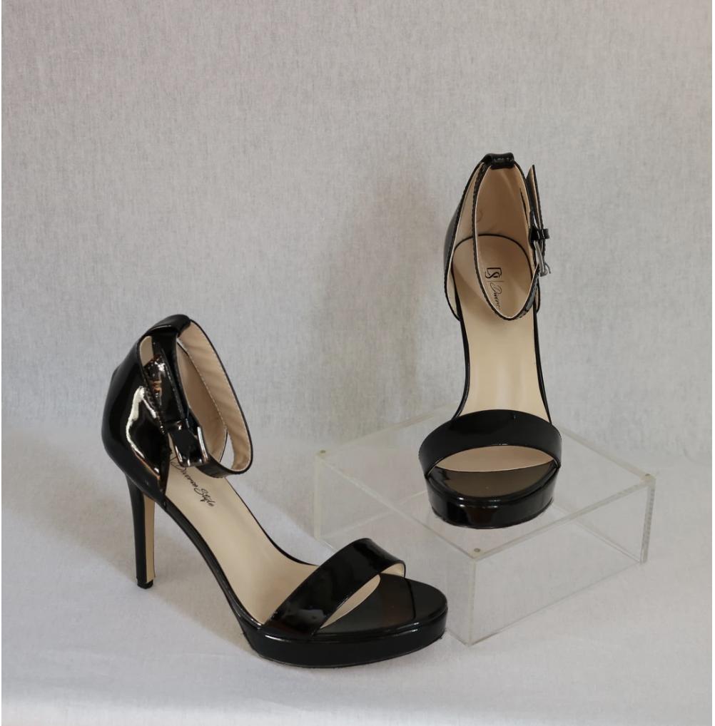 Classic Ankle Strap Heel - Onyx
