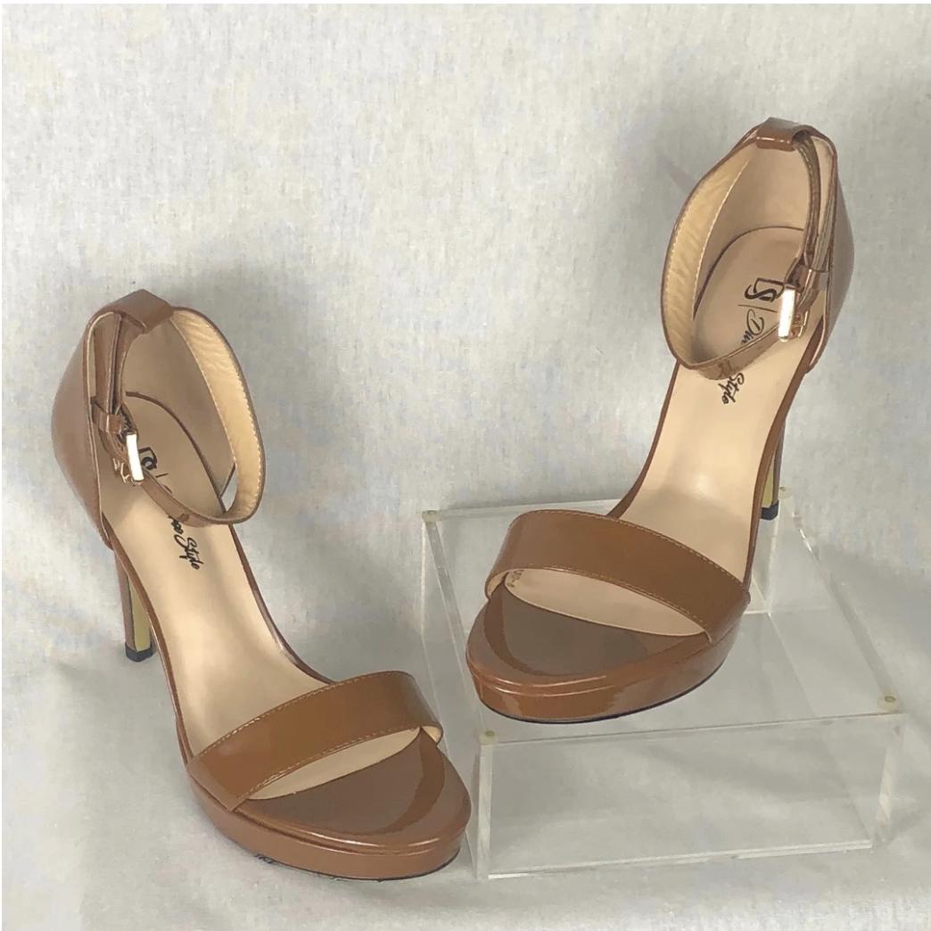 Classic Ankle Strap Heel - Cinnamon/Milk Chocolate