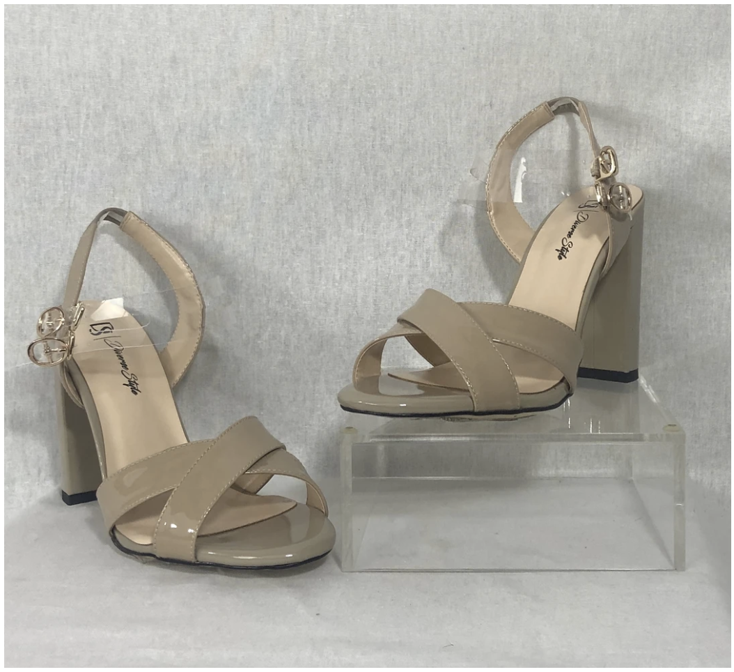 Classic Ankle Strap Heel - Cashew