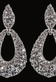 Pave' Knocker Pageant Earrings