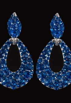 Pave' Knocker Pageant Earrings