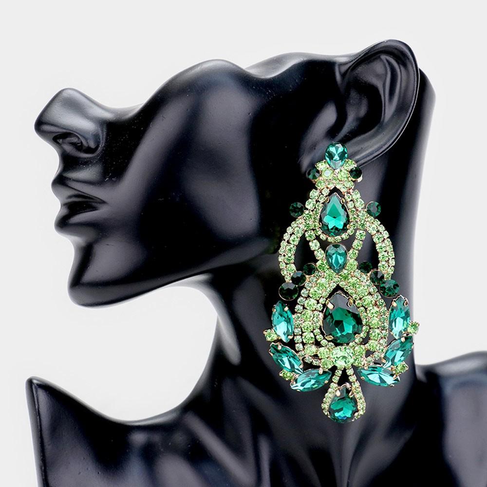 Emerald Chauncey Pageant Earrings