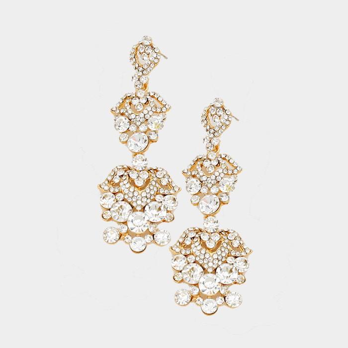 """3.5"""" Abby Pageant Earrings"""