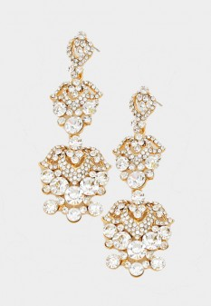 "3.5"" Abby Pageant Earrings"