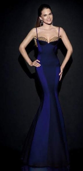 Indigo/Violet Tarik Ediz Dress #92487