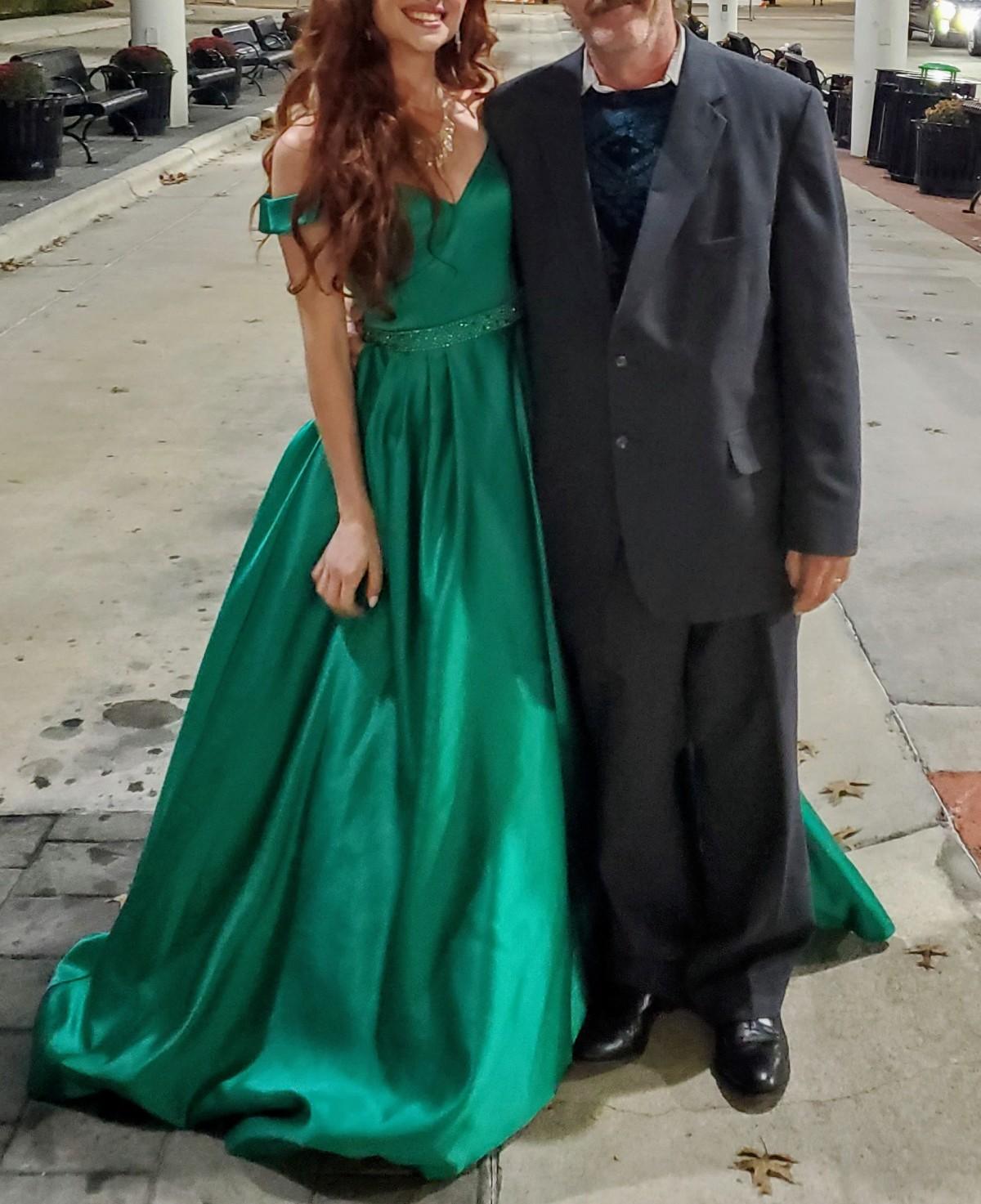 Emerald Green Sherri Hill Gown