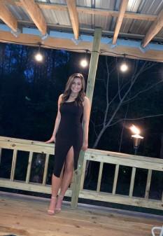 Asymmetrical One Shoulder Dress with Slit