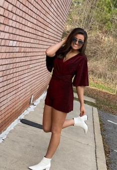 Red Sparkly Romper