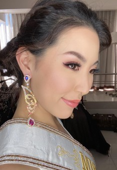 18K Gold plating Tia Iconic half butterfly Pageant Earrings