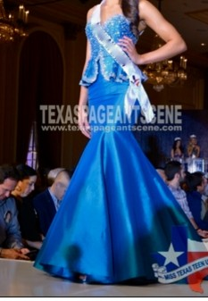 Blue MacDuggal Couture