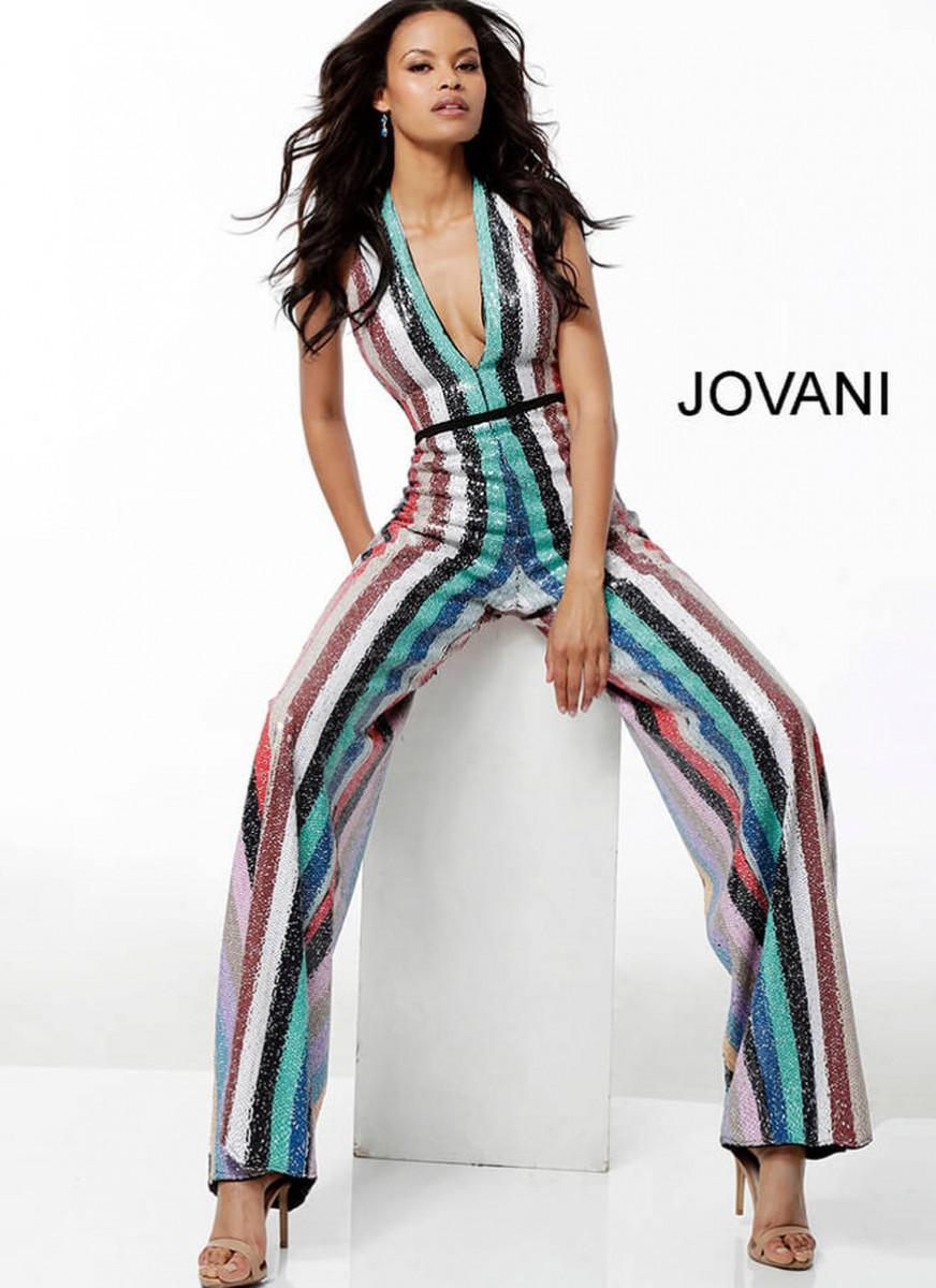 Multi color jumpsuit by Jovani