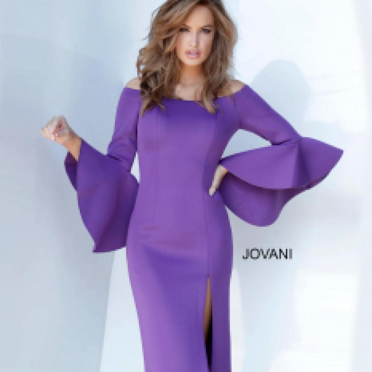 Knee Length Scuba Jovani Cocktail Dress 1587