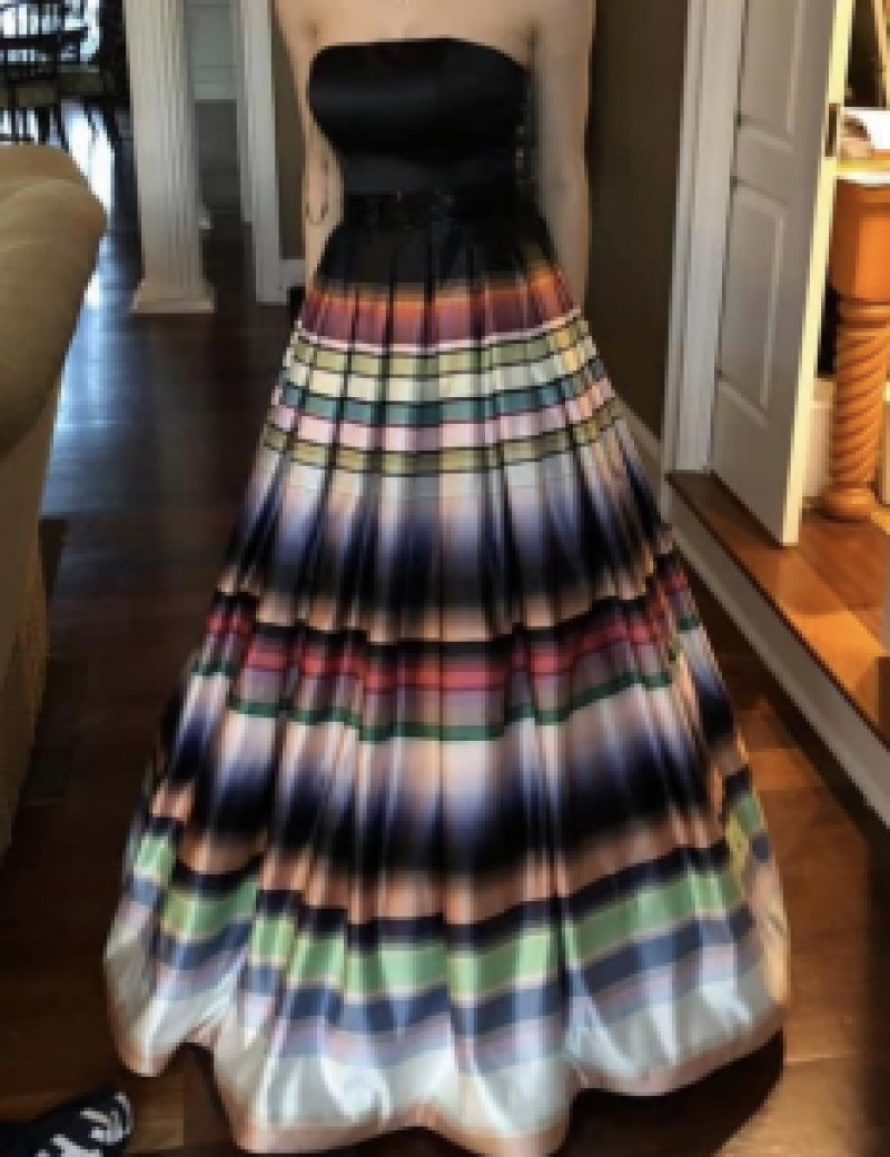 Striped multicolor dress by Jovani