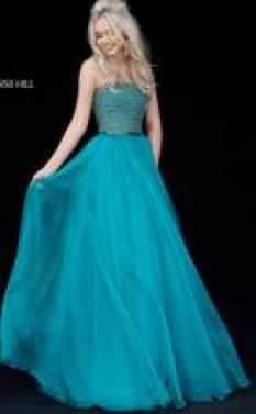 Sherri Hill flowing chiffon gown 51438