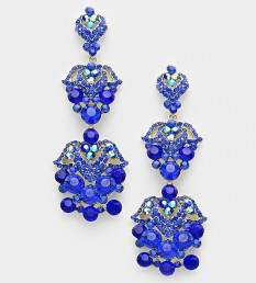 Crystal Rhinestone Chandelier Pageant Earrings