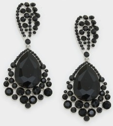 Crystal Drop Pageant Earrings