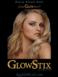 GlowStix Long-Lasting Shimmer Lipstick ON THE HOUSE and Topical Glitter MIXER