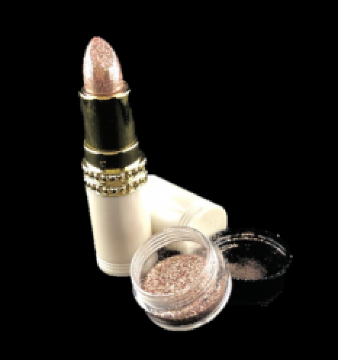 GlowStix Long-Lasting Shimmer Lipstick PONG and Topical Glitter CHANDELIER