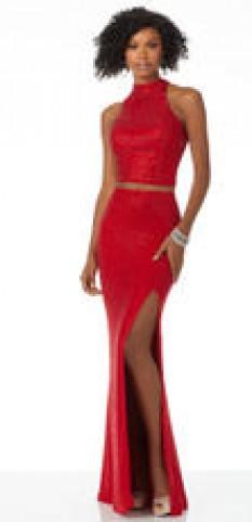 Mori lee sequin 2 piece gown 42121