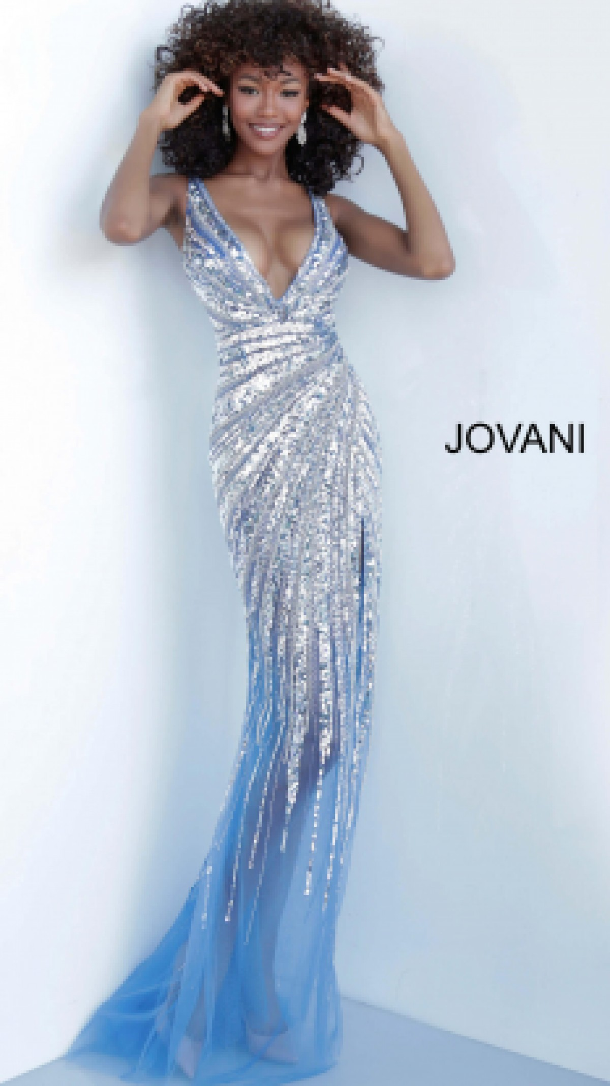 Jovani stretch sequin gown 3686