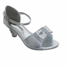Kids Silver High Heel Shoes