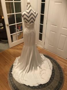 Angela & Alison White Strapless Gown
