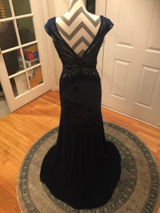 Tony Bowls Navy Blue Gown