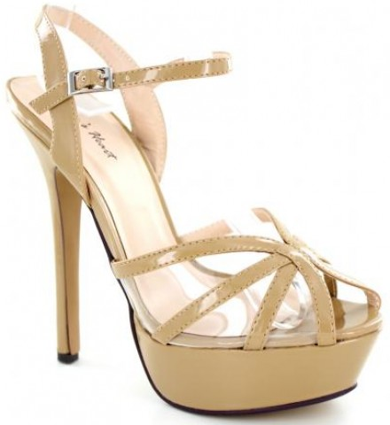 Helen's Heart Nude Pageant Shoes   Pageant Heels