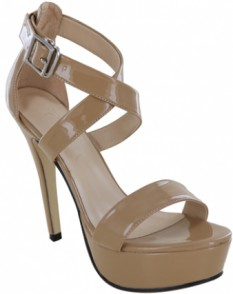 Helen's Heart Thick Strap Nude Pageant Shoes | Pageant Heels