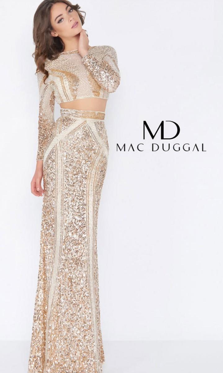 Macduggal sequin gown 4660