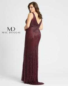 Amethyst Beaded Mac Duggal Plus Size Gown
