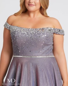 Plus Sized Lavender Ball Gown by Mac Duggal