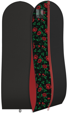 Gussetted Garment bag with roses