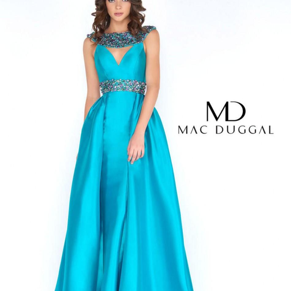 Turquoise Mac Duggal size 10