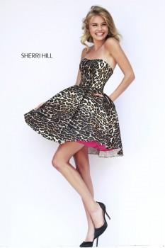 Sherri Hill Leopard Print Cocktail dress