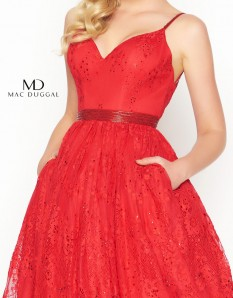 Red Mac Duggal T-Length Size 0