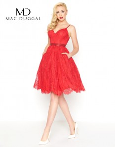 Red Mac Duggal T Length Size 6