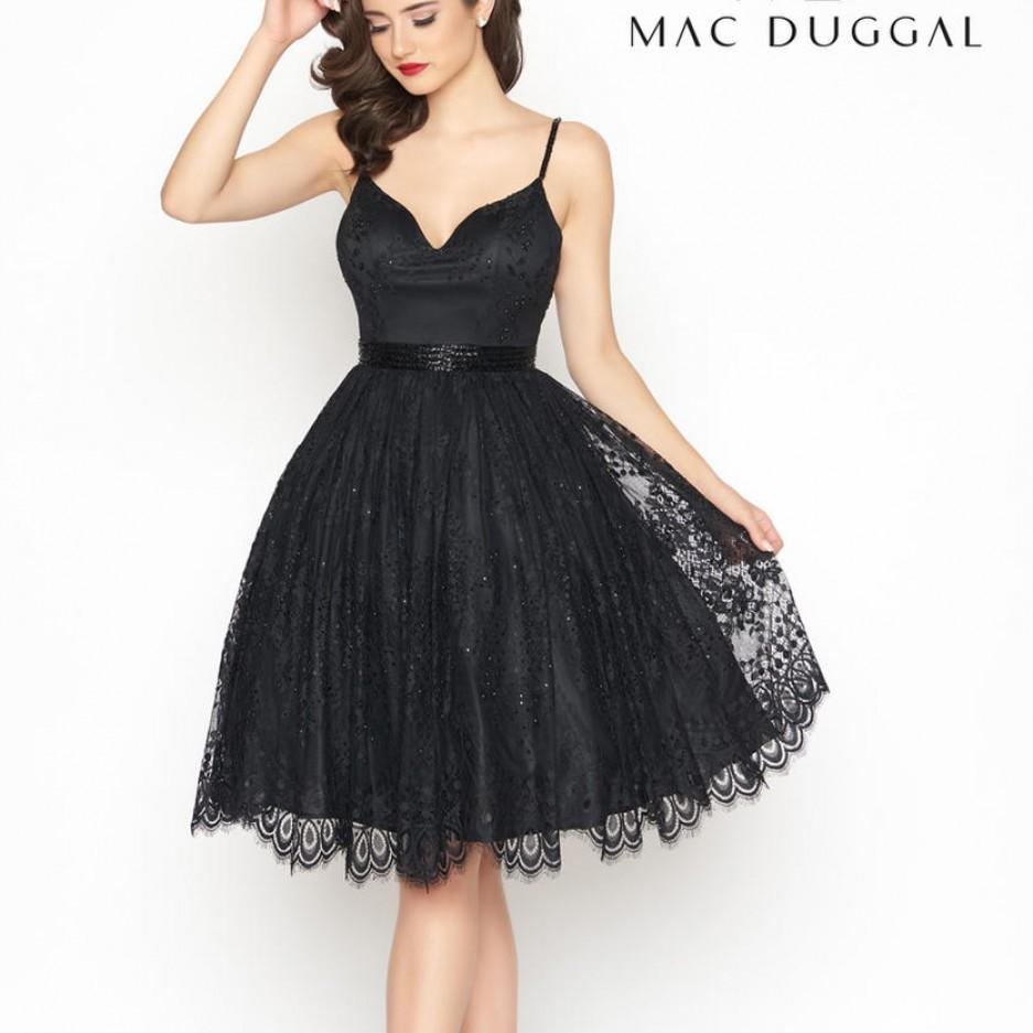 Black size 2 Mac Duggal T Length Cocktail Dress