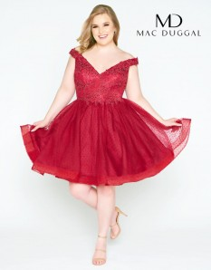 Size 20 Mac Duggal Burgundy Cocktail Dress