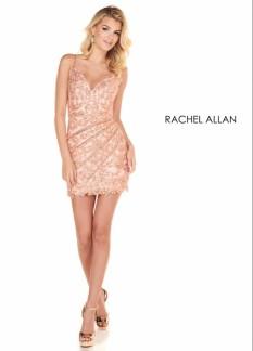 Rachel Allan Navy Cocktail Dress Size 4