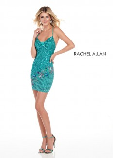 Rachel Allan Turquoise Size 4 Cocktail Dress