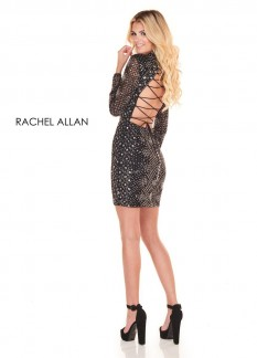 Rachel Allan Size 4 Black Cocktail Dress