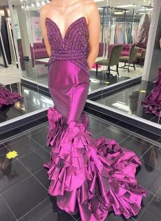 Purple Jovani Couture