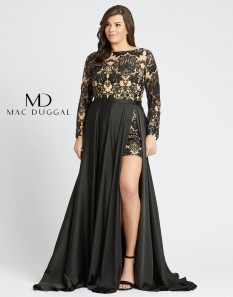 Size 14 Black and Nude Mac Duggal Romper