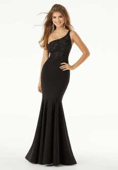 Morilee Black fitted gown