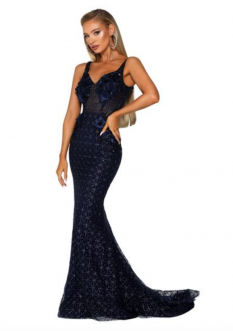 Blue Miss Evening Gown by Portia and Scarlett