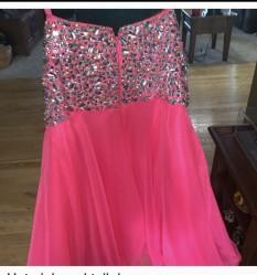 Pink Teen or Miss Dress designer:mori lee