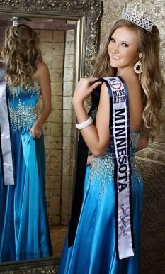 Blue Scala Gown by Ashley Lauren