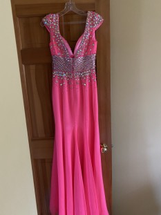 One of a kind Jonathan Kayne Bubblegum Pink Gown